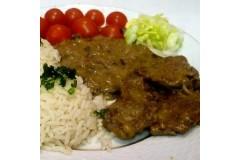 Roštěnky s omáčkou a rýží